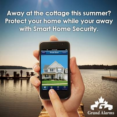 Away at the cottage? You arm and disarm your home alarm system by using your smartphone!