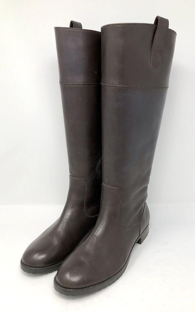 Lauren Ralph Lauren Stiefel Größe Größe Größe 6.5 B Stara Braun Leder Zip Tall ... 4c033e
