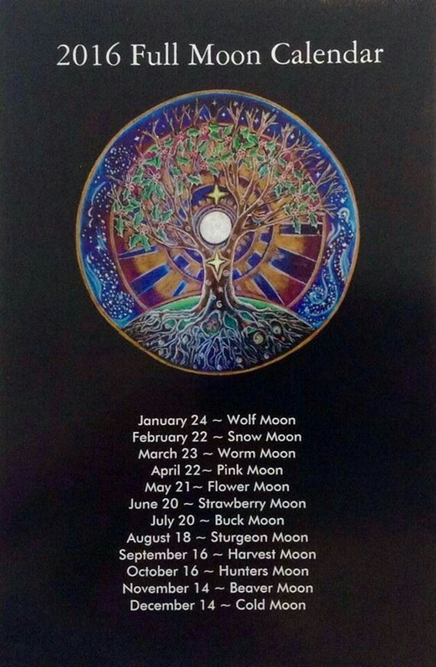 2016 full moon calendar www.livetrustedpsychics.co.uk