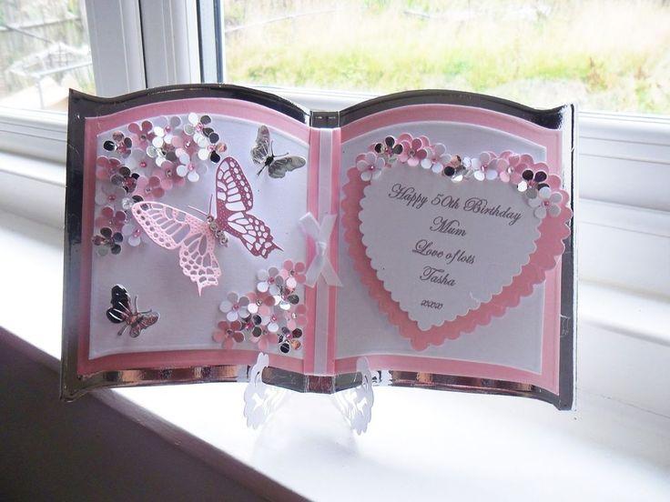 Beautiful Personalised Handmade Female Bookatrix Birthday Card any age,relation.