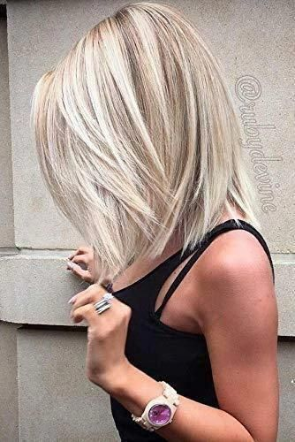 """Details about Ugeat 8"""" Bob Wigs Human Hair Lace Frontal Piano Color Two Blonde Natural Looking"""