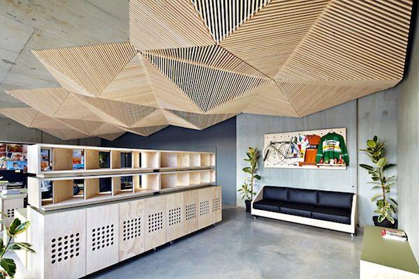 Assemble Studio | Wood Design | Unique Ceiling | Creative Workspace