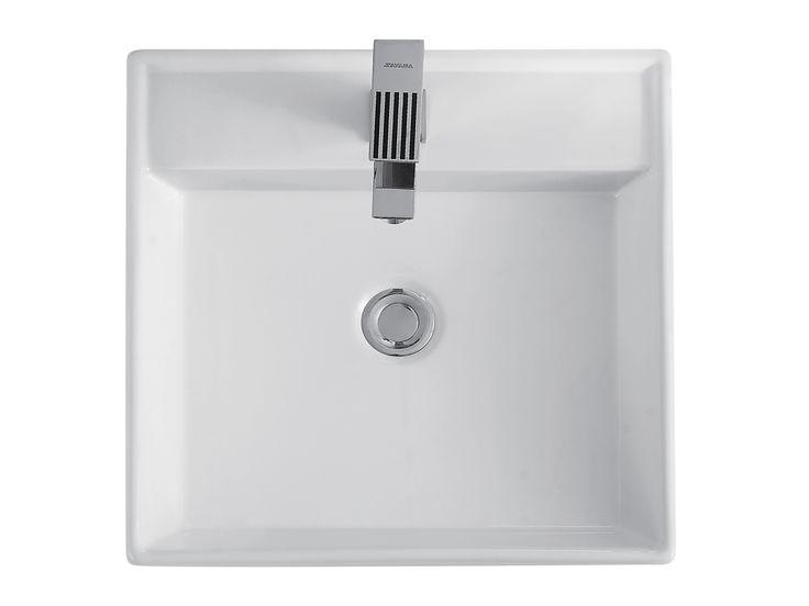 Muebles de Baño y Cocina Interceramic, este producto es de la línea Milan, lavabo sobre cubierta milan con perforacion monomando. Visita nuestro sitio www.interceramic.com