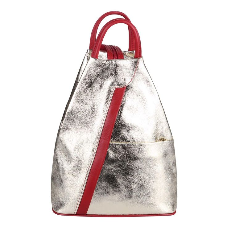 Made in Italy Damen echt Leder Rucksack Backpack Lederrucksack Tasche Schultertasche Ledertasche Nappaleder