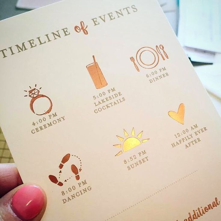結婚式の進行が分かるペーパーアイテム「タイムライン」とは? | marry[マリー]