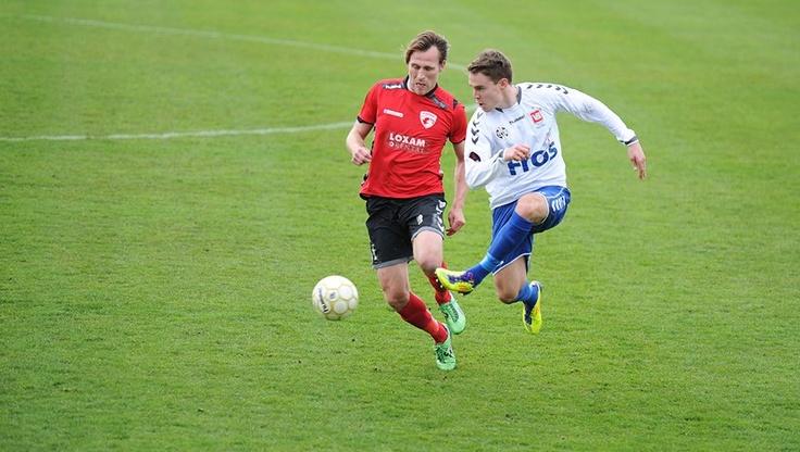 FC Fredericia, with Jesper Christiansen, playing against Vejle-Boldklub-Kolding on Monjasa Park.  Result 2-2.  (1. division - 29.04.12)