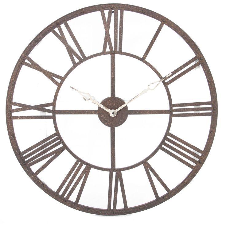 Grande Horloge Pendule Murale En Métal Style Vintage Diamètre 70 cm Neuf | eBay