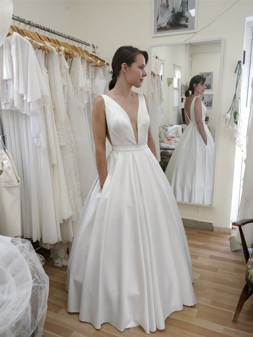 Summer Wedding Dresses with Pockets