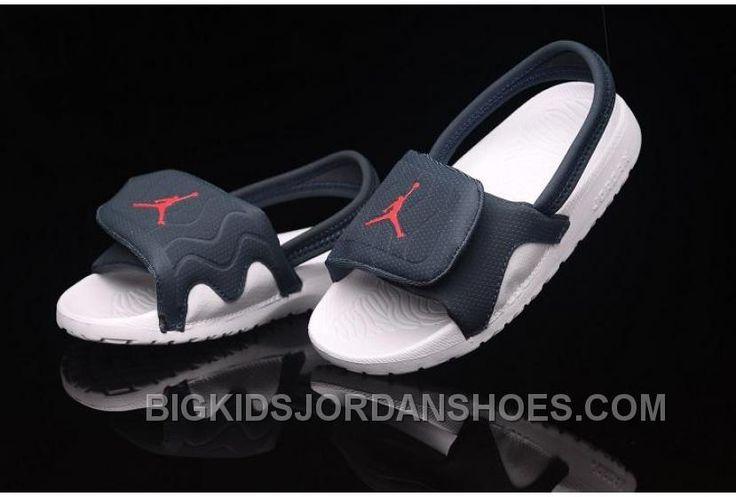 http://www.bigkidsjordanshoes.com/hot-2015-latest-summer-nike-air-jordan-kids-flip-flop-aj-white-blue-slippers-online.html HOT 2015 LATEST SUMMER NIKE AIR JORDAN KIDS FLIP FLOP AJ WHITE BLUE SLIPPERS ONLINE : $85.00