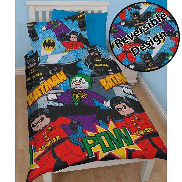 Lego DC Superheroes Batman Dynamic Single/US Twin Duvet Cover Set //Price: $18.01 & FREE Shipping //     #bedding sets