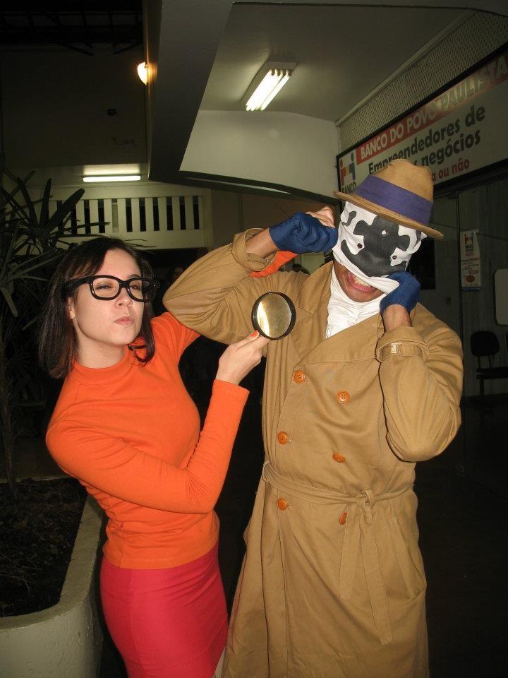 Velma (Tami Freire) vs. Rorschach (Claudio Boguma). Jundiaí, São Paulo, Brazil. #cosplay