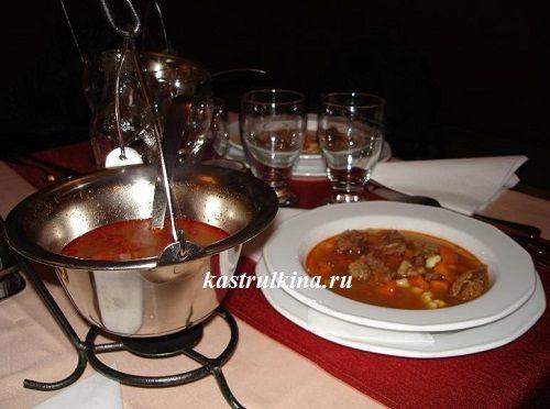 Венгерский густой суп-гуляш из говядины, рецепт