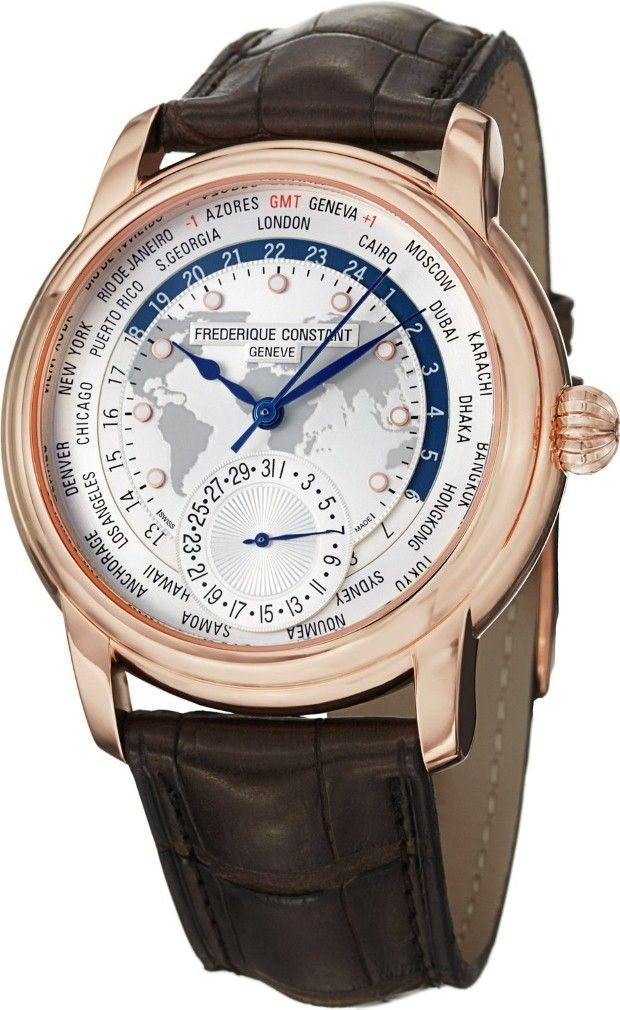 Men Watches : Frederique Constant Worldtimer Men's Automatic Watch FC-718WM4H4