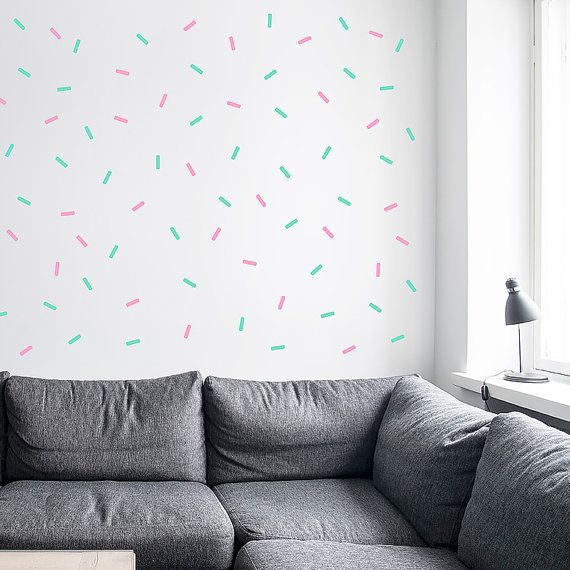 Sprinkle Shower Wall decal