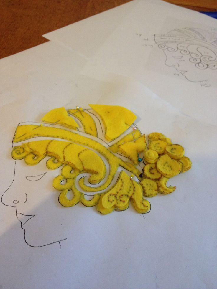 Goldwork design and felt