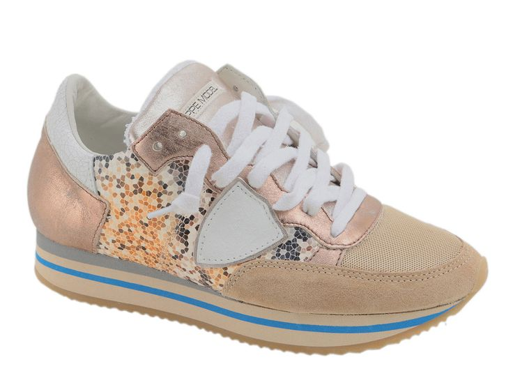 Sneakers for Women On Sale in Outlet, Gold, Metallic Leather, 2017, 3.5 Philippe Model