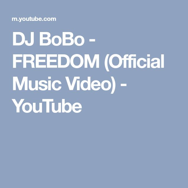 DJ BoBo - FREEDOM (Official Music Video) - YouTube