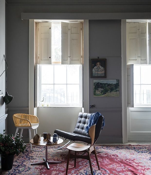 Farrow & Ball, Worsted No. 284: Joining Farrow & Ball's group of easy greys, this smoky shade is not too light and not too dark.
