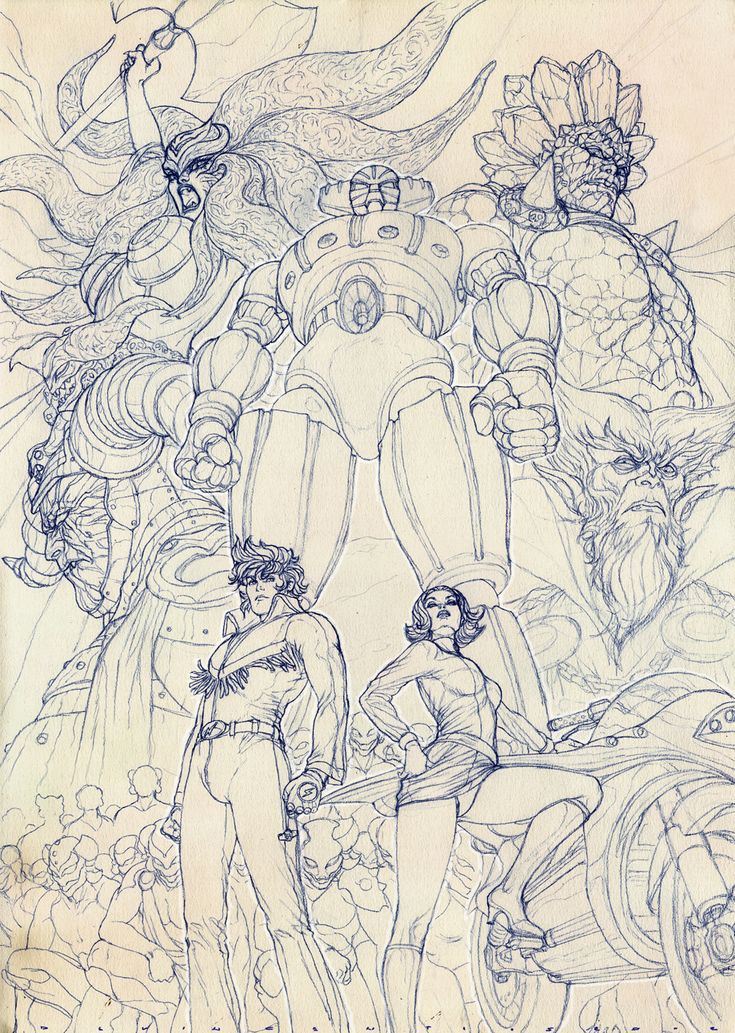 Jeeg - 鋼鉄ジーグ Kōtetsu Jeeg - Pencil Layout (Adriano de Vincentiis)