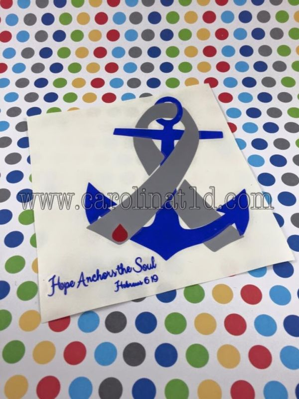 Type 1 diabetes hope anchors the soul decal