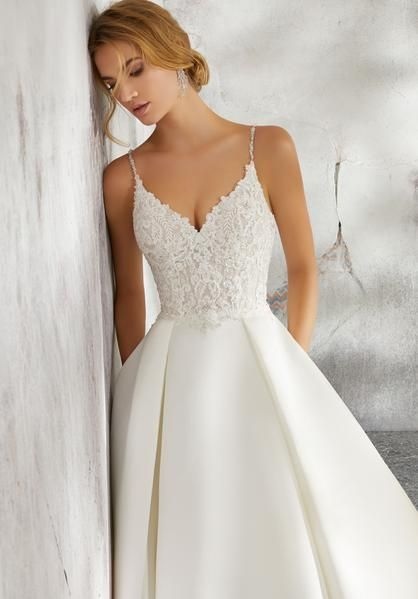 Morilee 8272 Luella Satin Ball Gown Wedding Dress – Fabiola! – #Ball #dress #Fab…