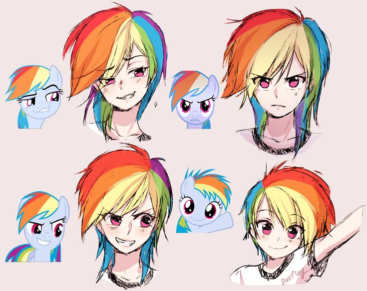 #1178683 - artist:odaefnyo, expressions, faic, filly rainbow dash, humanized, rainbow dash, safe, smug, smugdash - Derpibooru - My Little Pony: Friendship is Magic Imageboard