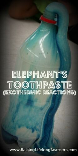 Elephant's Toothpaste demonstration and experiment {with printable!}