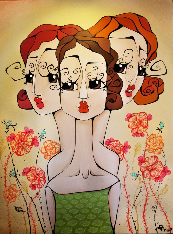 """Obra: """"Compinches""""  De: Mora Fiaño Artísta Plástica www.moracuadros.com.ar"""