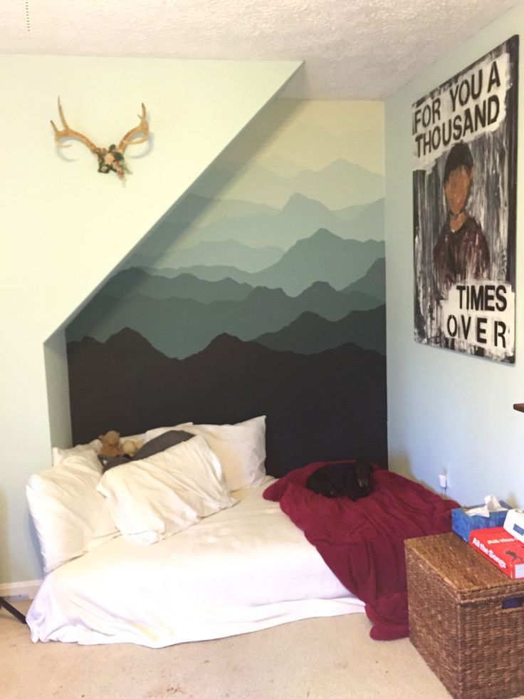 mountain mural inspired by Pam's project found at: http://www.apartmenttherapy.com/the-mountain-mural-bedroom-makeover-renovation-project-213738?utm_source=facebook&utm_medium=social&utm_campaign=managed