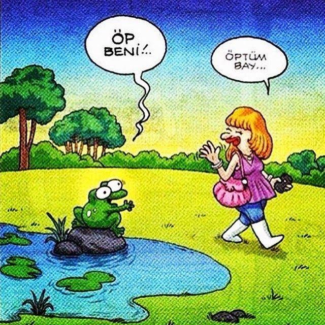 - Öp beni...  + Öptüm bay...  #karikatür #mizah #matrak #komik #espri