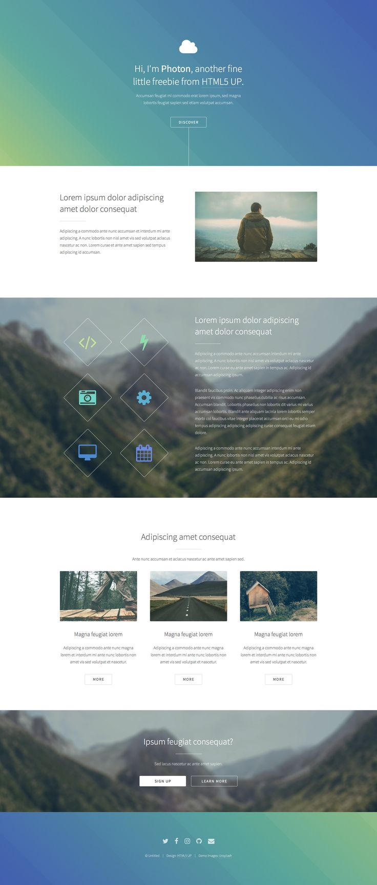 161 best Free HTML5 Templates images on Pinterest | Free html ...