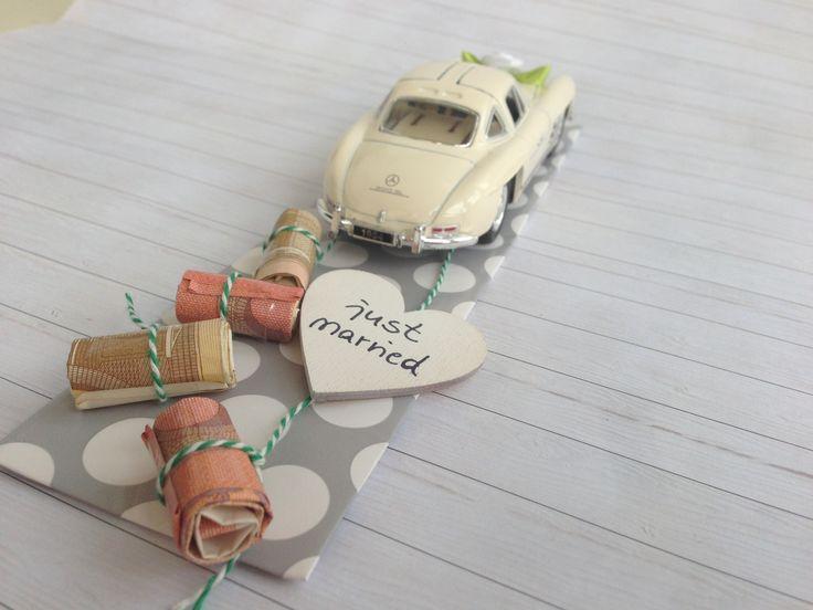 Geldgeschenk zur Hochzeit - Hochzeitsauto Mercedes Benz über http://de.dawanda.com/product/107103687-hochzeitsauto-mercedes-cremefarben-geldgeschenk