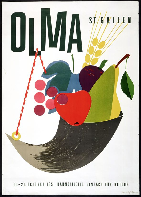 Einladung 1951. Mit freundlicher Genehmigung der Olma Messen St.Gallen: Observed, Olma Messen, Der Olma, Design Capsule, Posters Design, Art, Cooking Food Illustrations, Culinary Illustrations, Illustrations Gener