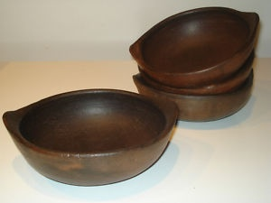 clay bowls from Pomaire, Chile on Ebay