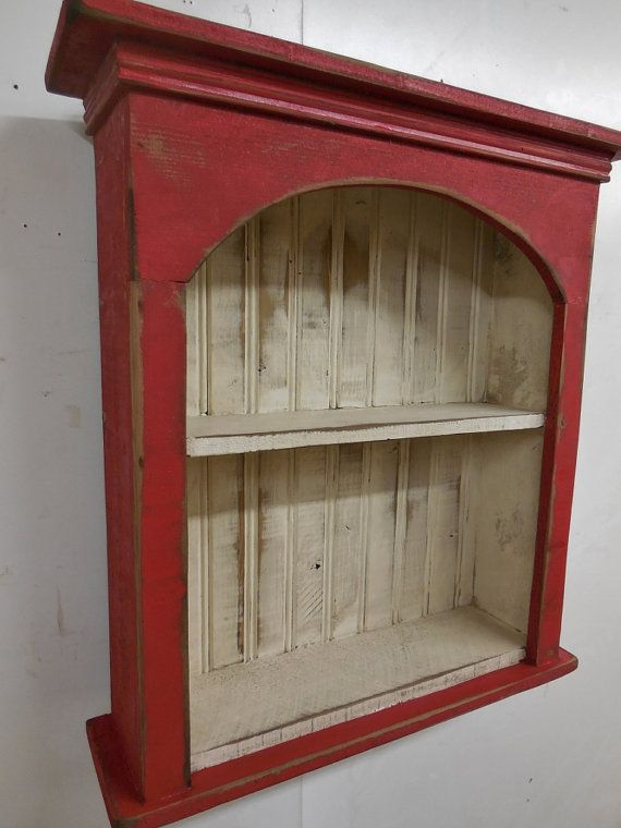 Shabby style wall shelf, primitive wall shelf,french country wall shelf, antique…