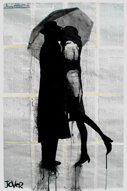 "Saatchi Online Artist: Loui Jover; Pen and Ink, Drawing ""tete-e-tete"". @Deidra Brocké Wallace"