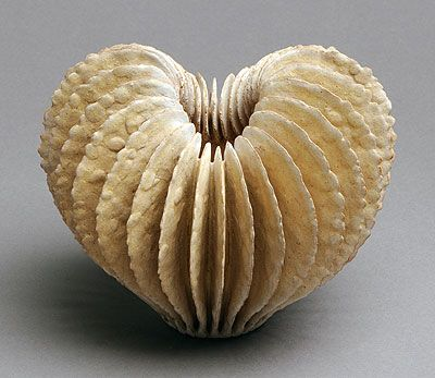 Ursula Morely Price | Cream Empty Heart Form. 2010.  Stoneware that you just want to touch!