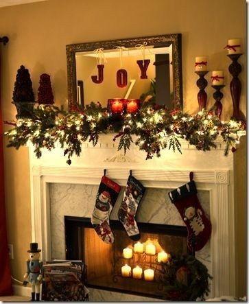 52 Beautiful Winter Fireplace Mantel Decorating Ideas | Decorating Ideas | Christmas  mantels, Christmas, Christmas decorations - 52 Beautiful Winter Fireplace Mantel Decorating Ideas Decorating