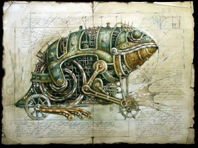 mechanical art animals | ... animals that seem to come out from some Industrial utopian world