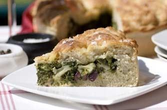 Stuffed focaccia with spinach, olives and mozzarella