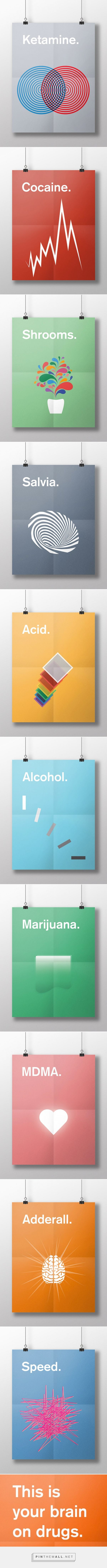 This is your brain on drugs: Posters by Meaghan Li
