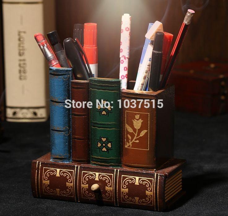 La vida real habitación escapge accesorios de juego De Almacenamiento Cajones con Lápiz Pen Holder Decorativo Diseño de Libros de la Biblioteca de Suministros de Oficina De Madera(China (Mainland))