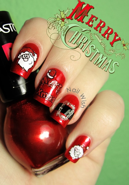 Nail Wish: Reto Oh Oh Oh! #7 y Winter Holiday Challenge #7: Santa Claus!!