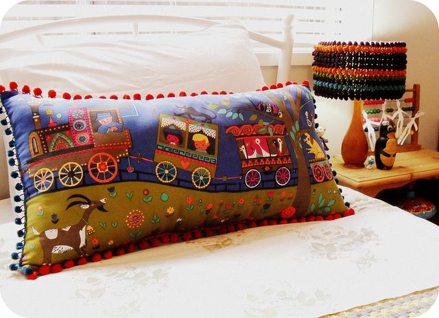 gorgeous vintage cushion from alittlevintage on flickr