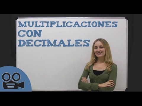 Multiplicar decimales - YouTube