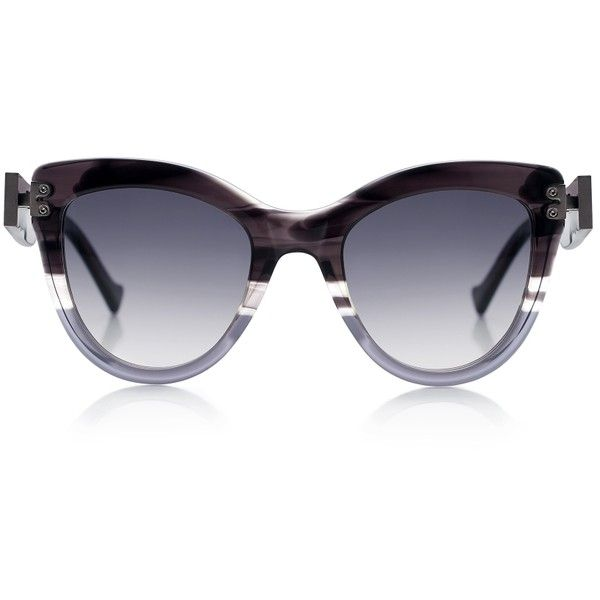 Grey Ant - Diskov cat eye sunglasses ($360) ❤ liked on Polyvore featuring accessories, eyewear, sunglasses, grey ant, cat-eye glasses, cat eye sunglasses, cateye glasses and cateye sunglasses