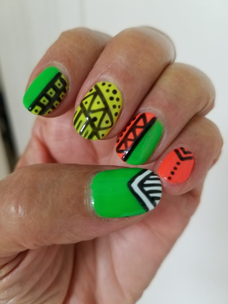 45 Best African Print NAILS Images On Pinterest