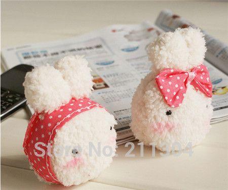 Free shipping Rice Rabbits plush toys 2pcs/lot mobile phone hanger pendant keychains stuffed animals beautiful cute little gifts //Price: $US $7.77 & FREE Shipping //     #toyz24