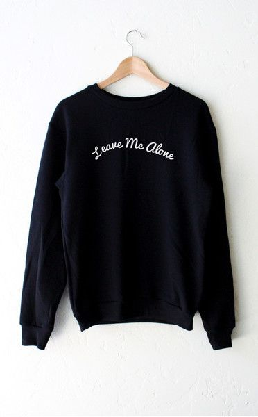 Leave Me Alone Sweater - Black