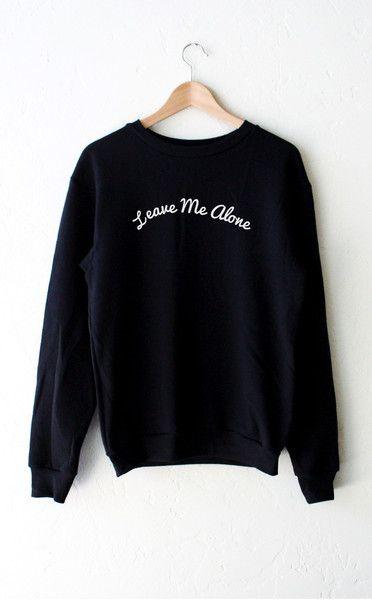 Leave Me Alone Sweater - Black